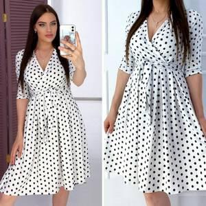 Платье короткое с рукавом 3/4 А05266