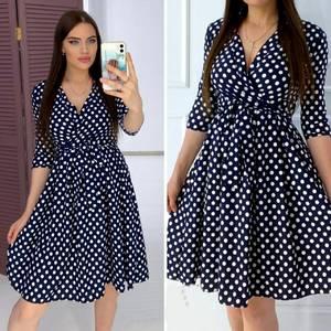Платье короткое с рукавом 3/4 А05267