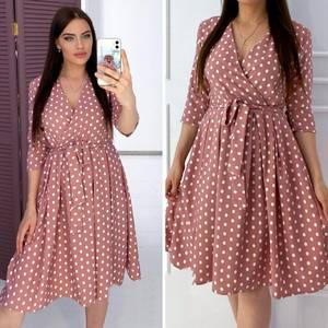 Платье короткое с рукавом 3/4 А05269