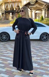 Платье длинное однотонное А08318