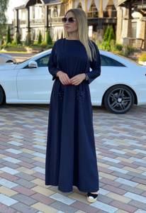 Платье длинное однотонное А08319