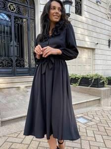 Платье длинное однотонное А14419