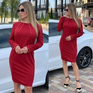 Платье короткое с длинным рукавом А11327
