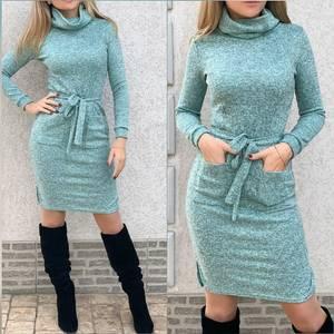 Платье короткое однотонное А20066