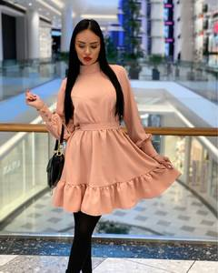 Платье короткое однотонное А19734