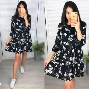 Платье короткое с принтом А11878