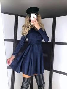 Платье короткое однотонное А19796