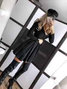 Платье короткое однотонное А19795