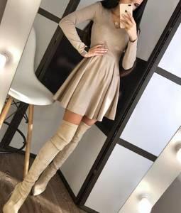 Платье короткое однотонное А19797