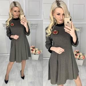 Платье короткое с рукавом 3/4 Ц4261