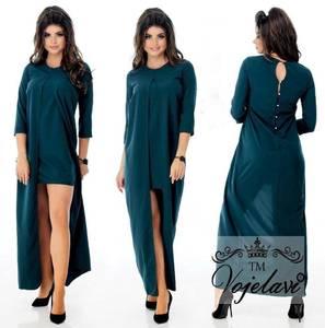 Платье длинное однотонное А08338