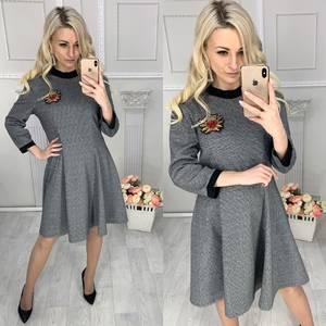 Платье короткое с рукавом 3/4 Ц4262