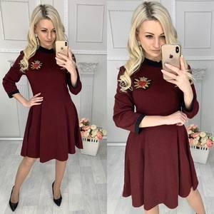 Платье короткое с рукавом 3/4 Ц4263