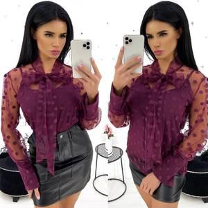 Блуза в горошек А19426