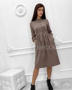 Платье короткое однотонное А21326