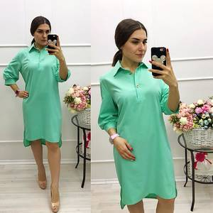 Платье короткое с рукавом 3/4 Ц3080