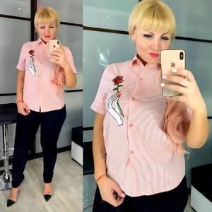 Рубашка с коротким рукавом Ц3285