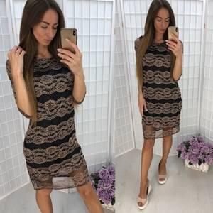 Платье короткое повседневное У1050
