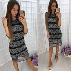 Платье короткое повседневное У1051