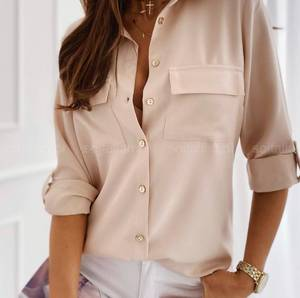 Рубашка однотонная А16227