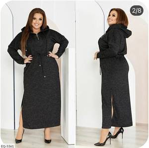 Платье длинное с длинным рукавом А27100