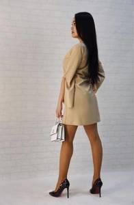 Платье короткое однотонное Ц9789