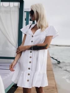 Платье короткое однотонное Ч2923