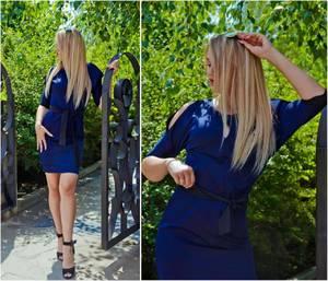 Платье короткое нарядное Ч2984