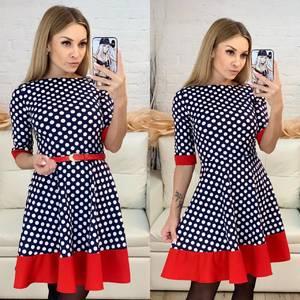 Платье короткое нарядное с принтом Х7365
