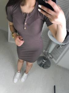 Платье короткое облегающее Ц7471