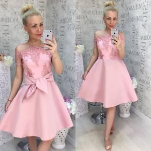 Платье короткое нарядное Ц6882