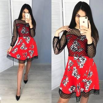 Платье короткое летнее Я6485