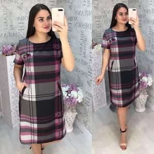 Платье короткое с коротким рукавом Ц6816