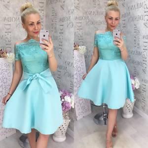 Платье короткое нарядное Ц6884