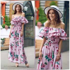 Платье длинное нарядное Ц6917