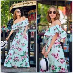 Платье длинное нарядное Ц6918