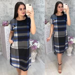 Платье короткое с коротким рукавом Ц6817