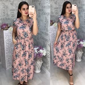 Платье длинное летнее Ц6821
