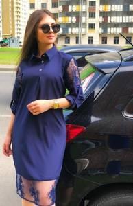 Платье короткое с рукавом 3/4 Ц7567