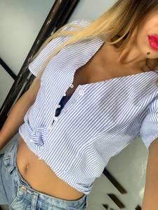 Рубашка в полоску Ц8786