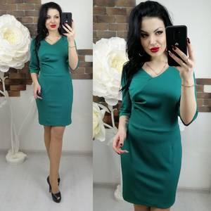 Платье короткое с рукавом 3/4 облегающее Х7371