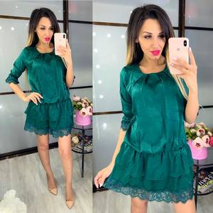 Платье короткое однотонное Ц8465