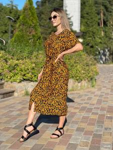 Платье длинное летнее А44253