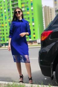 Платье короткое с рукавом 3/4 Ц7568