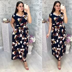 Платье длинное летнее Ц6840