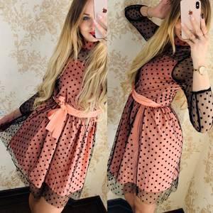 Платье короткое нарядное Я6547