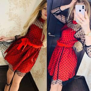 Платье короткое нарядное Я6548