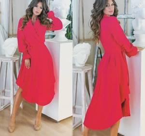 Платье длинное однотонное Я6559