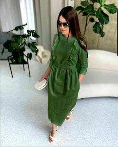 Платье короткое однотонное А43687