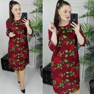 Платье короткое с принтом Ц7363